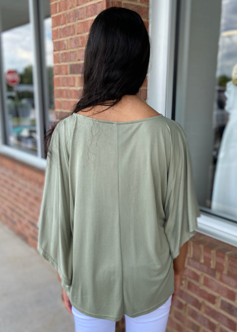 Golden Days Sage Kimono Top-Shop-Womens-Boutique-Clothing