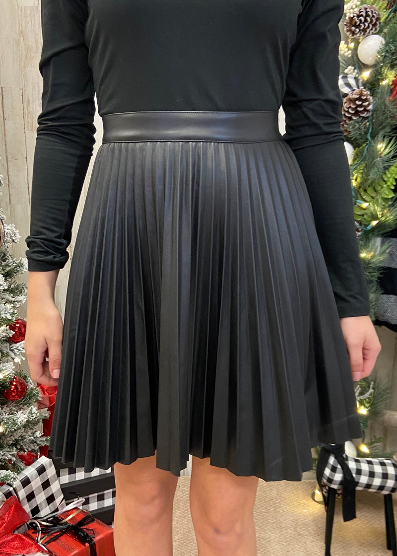 Make It Memorable Black Pleated Skirt-Shop-Womens-Boutique-Clothing