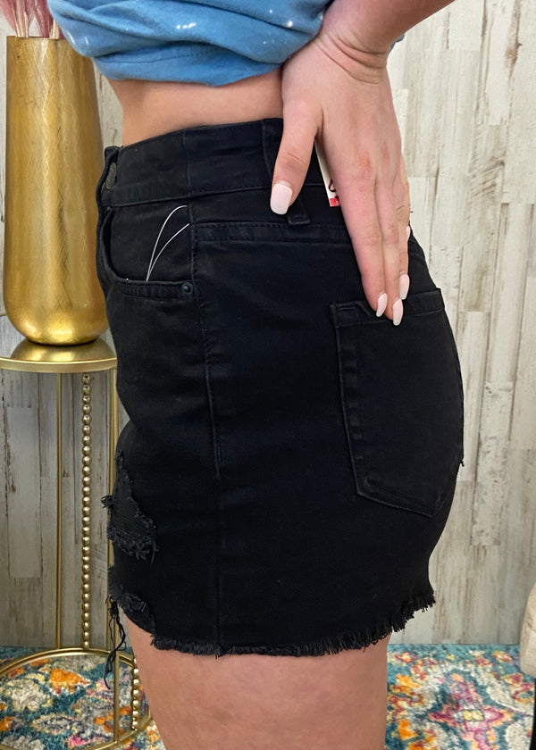 Sunny All Day Black Shorts-Shop-Womens-Boutique-Clothing