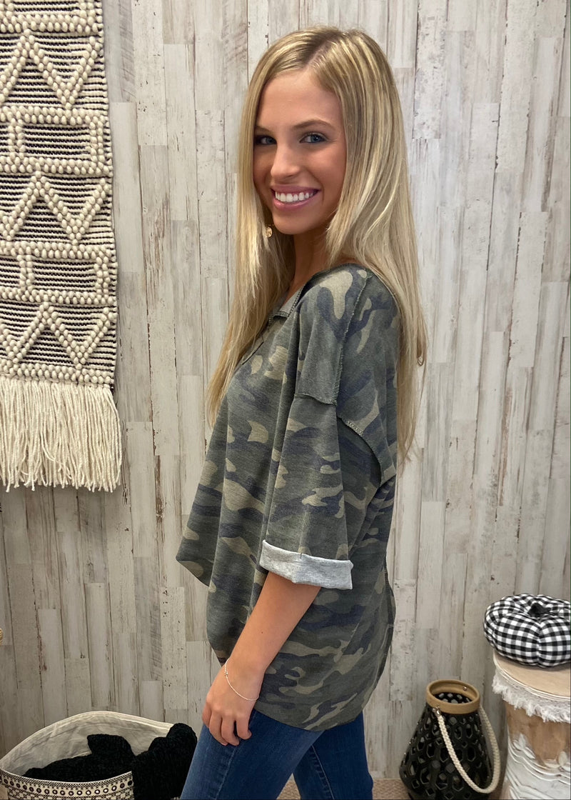Style Bandit Camo Top-Shop-Womens-Boutique-Clothing