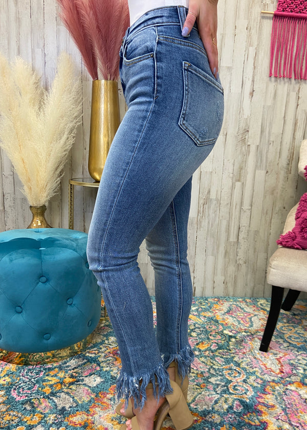 Rumors Around Here Light Fringe Jeans-Shop-Womens-Boutique-Clothing