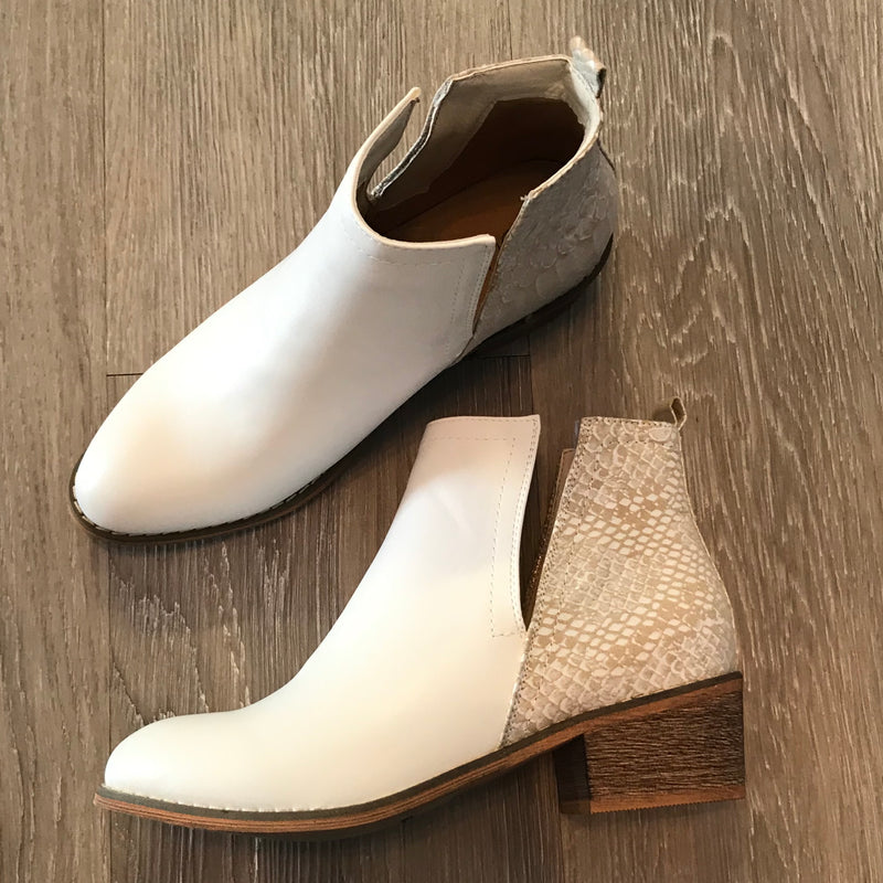 Olivia White Booties-Shop-Womens-Boutique-Clothing