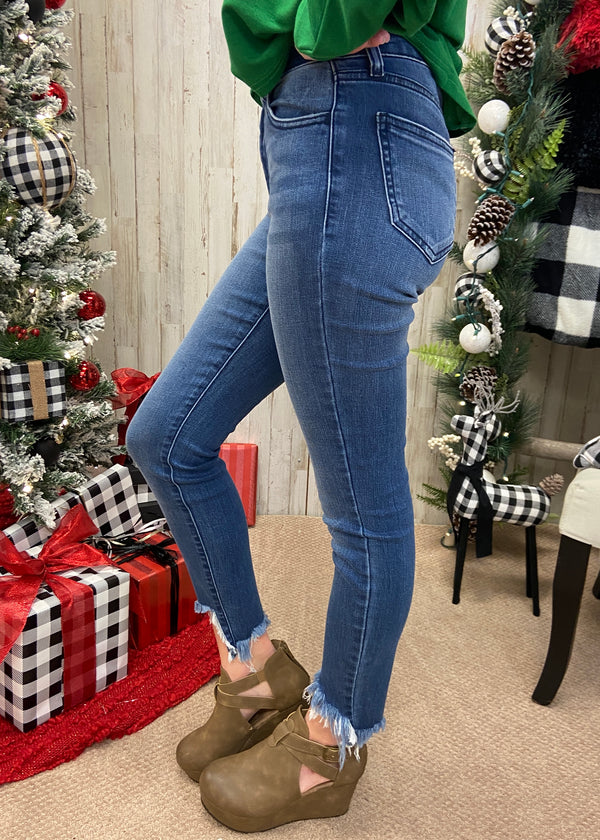 Good Advice Medium Denim Skinny Jeans-Shop-Womens-Boutique-Clothing