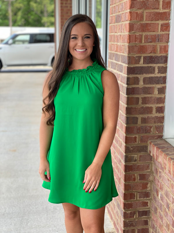 Simple Days Kelly Green Dress-Shop-Womens-Boutique-Clothing