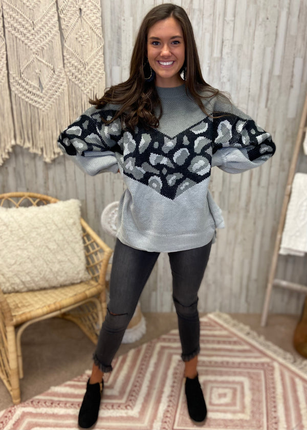Trend Spotter Grey Animal Sweater-Shop-Womens-Boutique-Clothing
