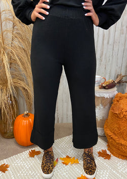 Spooky Season Black Rib Knit Pants-Shop-Womens-Boutique-Clothing