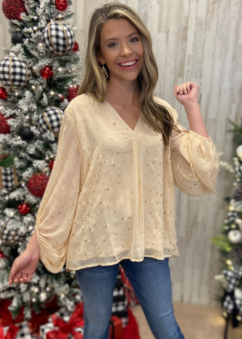 City Magic Natural Star Top-Shop-Womens-Boutique-Clothing