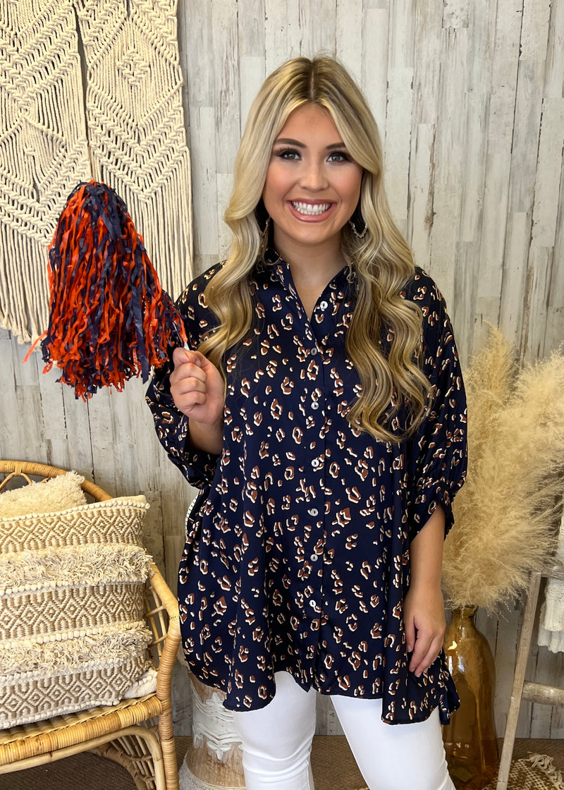 Gather Around This Season Rust Multi Striped Sweater-Shop-Womens-Boutique-Clothing