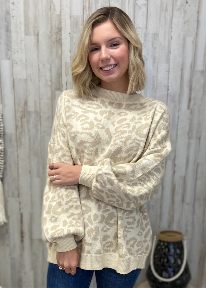 Full of Warmth Taupe Leopard Sweater-Shop-Womens-Boutique-Clothing