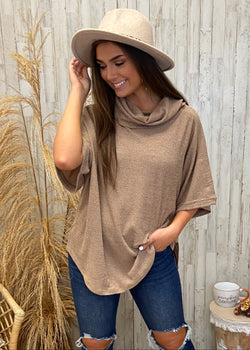 On Fall Time Mocha Turtleneck Top-Shop-Womens-Boutique-Clothing