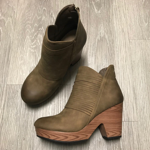 Autumn Taupe Ripple Wedges-Shop-Womens-Boutique-Clothing
