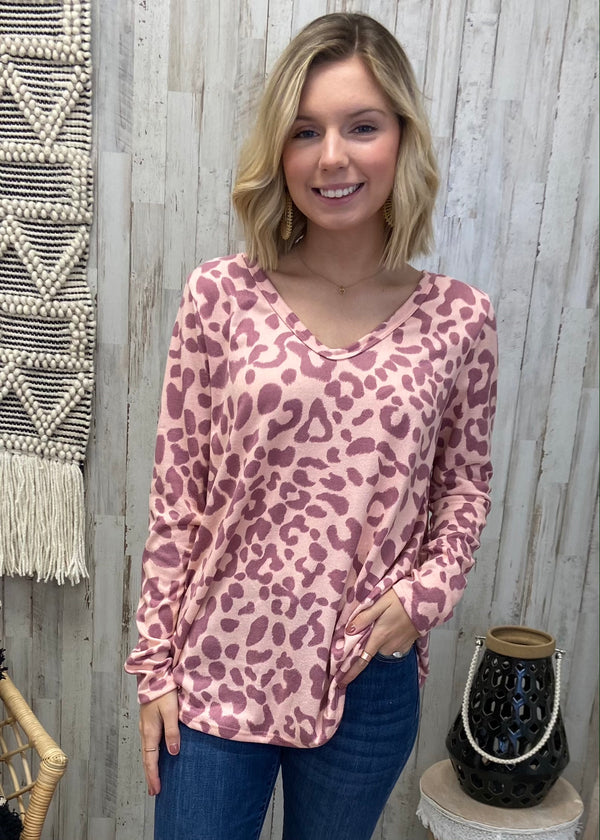 Feeling Frisky Mauve Leopard Top-Shop-Womens-Boutique-Clothing