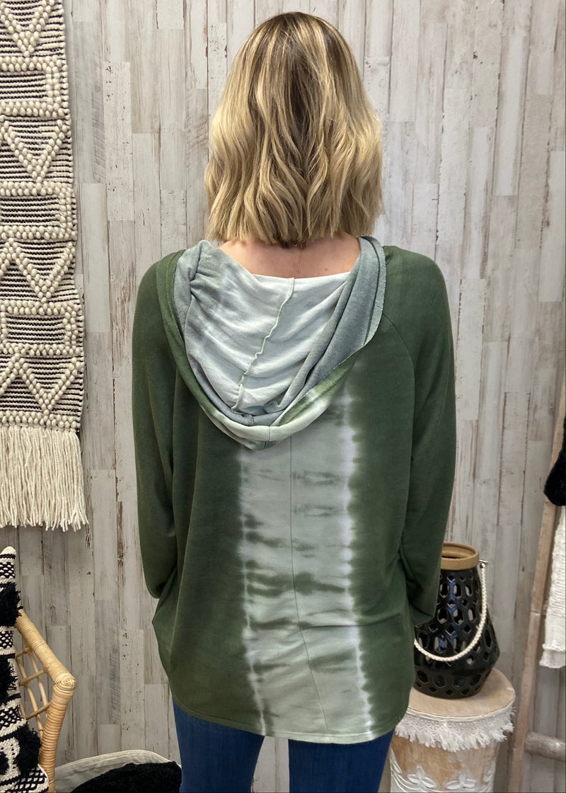 Highest Hopes Olive Tie Dye Hoodie-Shop-Womens-Boutique-Clothing