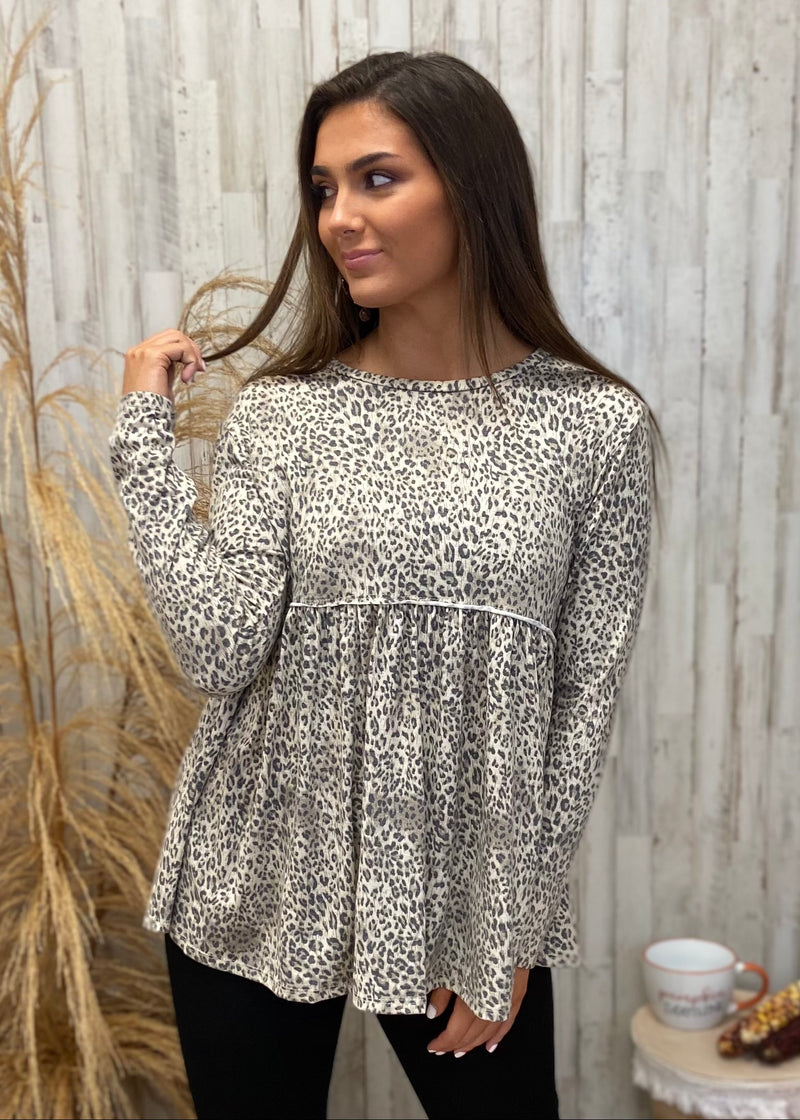 First In Sass Taupe Leopard Top-Shop-Womens-Boutique-Clothing
