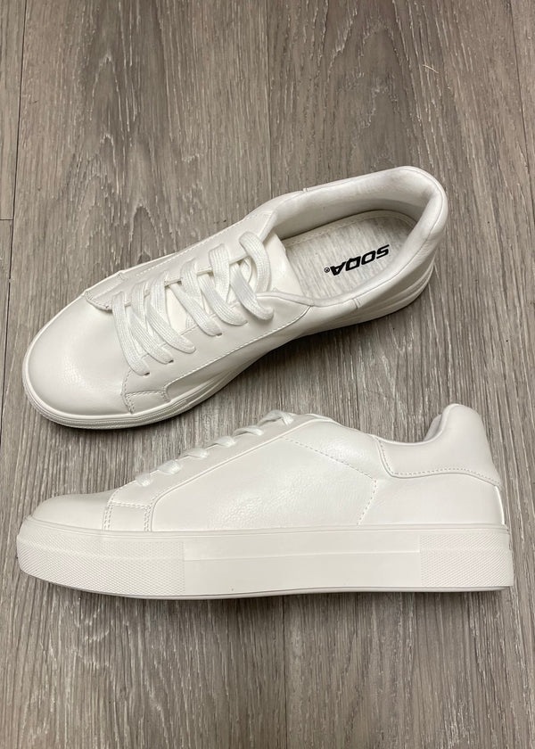 Riley White Chunky Sneakers-Shop-Womens-Boutique-Clothing
