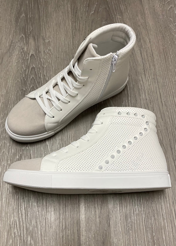Remi White Studded Sneakers-Shop-Womens-Boutique-Clothing