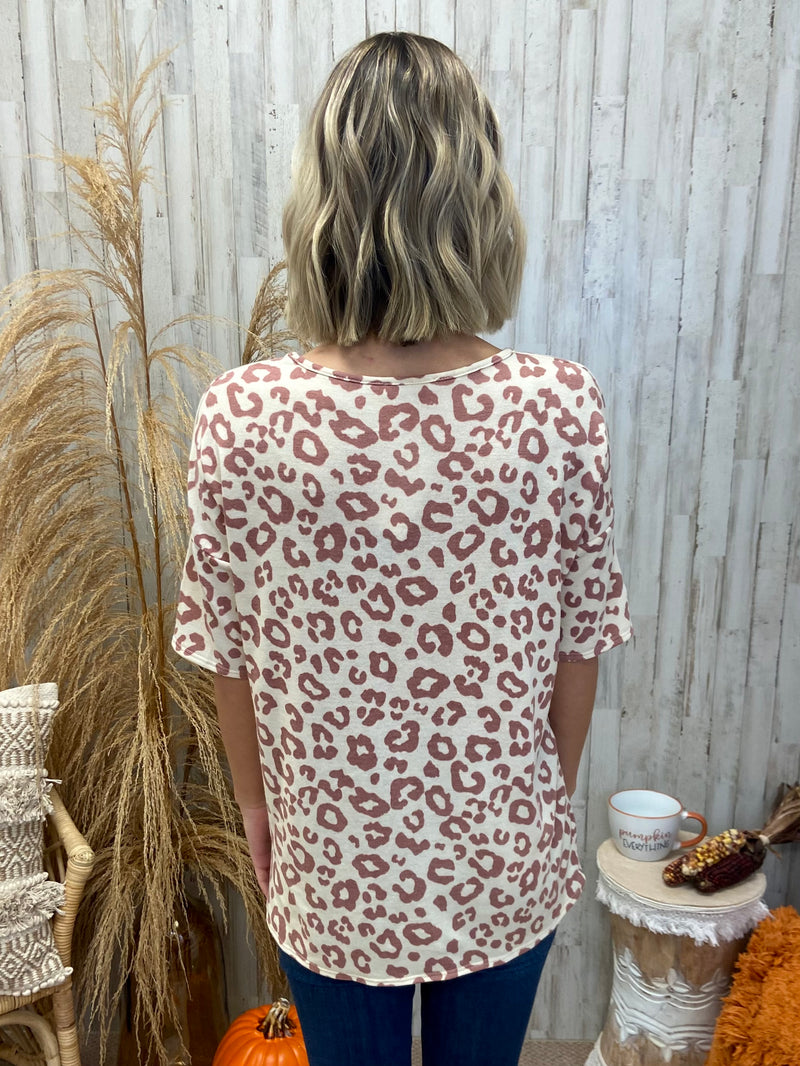 Sweet As Sugar Mauve Animal Print Top-Shop-Womens-Boutique-Clothing