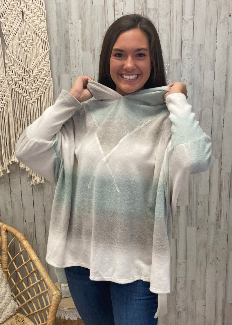 Chilly Vibes Ombre Tie Dye Hoodie-Shop-Womens-Boutique-Clothing