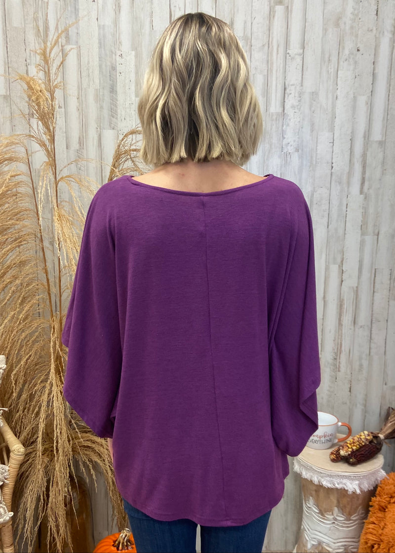In Between the Pines Purple Top-Shop-Womens-Boutique-Clothing