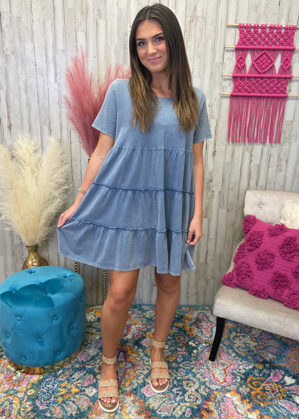 Sweet Nothings Denim Washed Dress-Shop-Womens-Boutique-Clothing