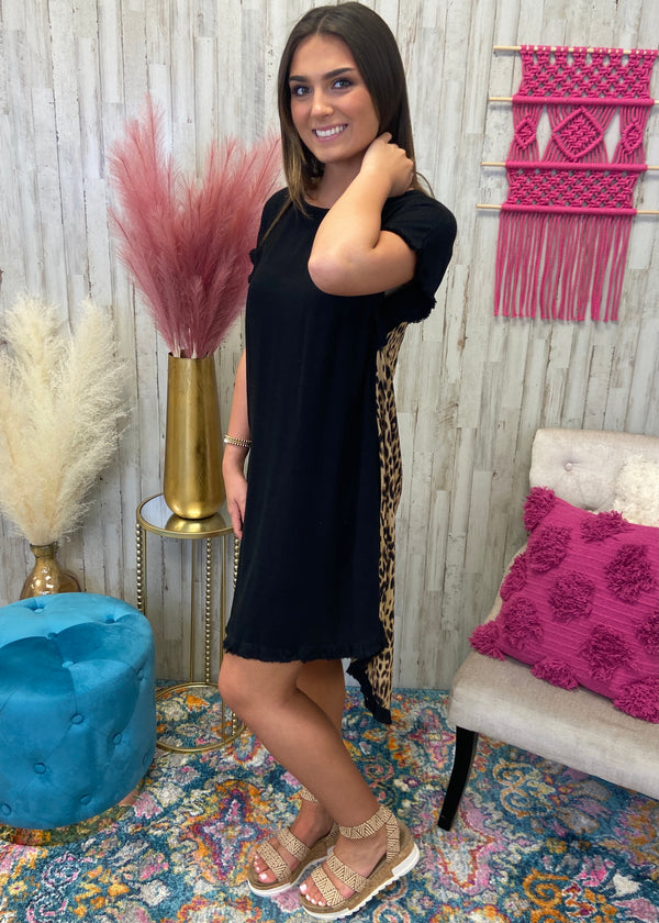 Last To Love Black Leopard Dress-Shop-Womens-Boutique-Clothing