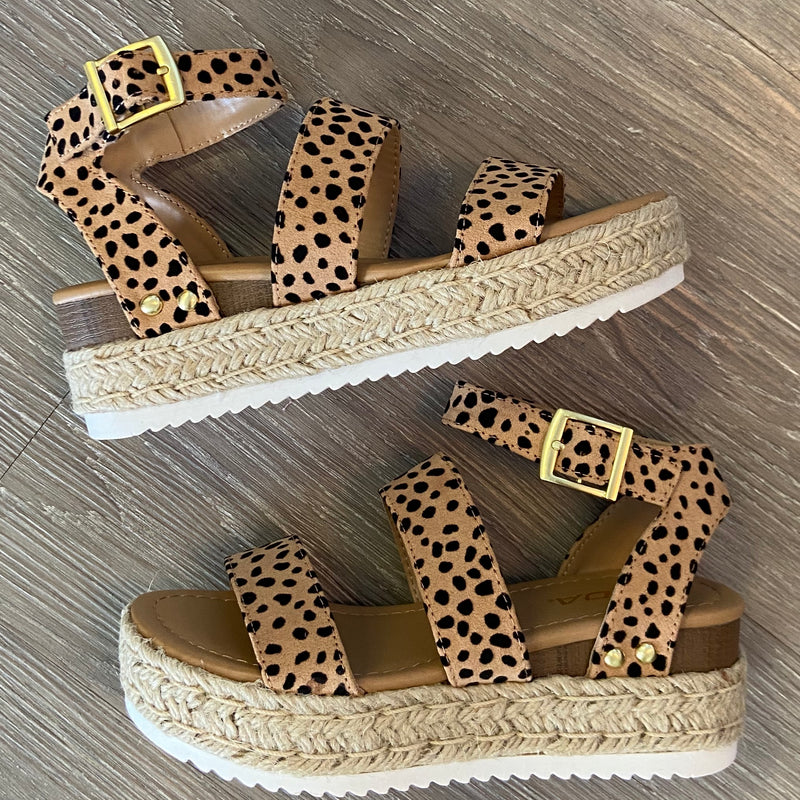 Rayna Cheetah Double Strap Platforms-Shop-Womens-Boutique-Clothing