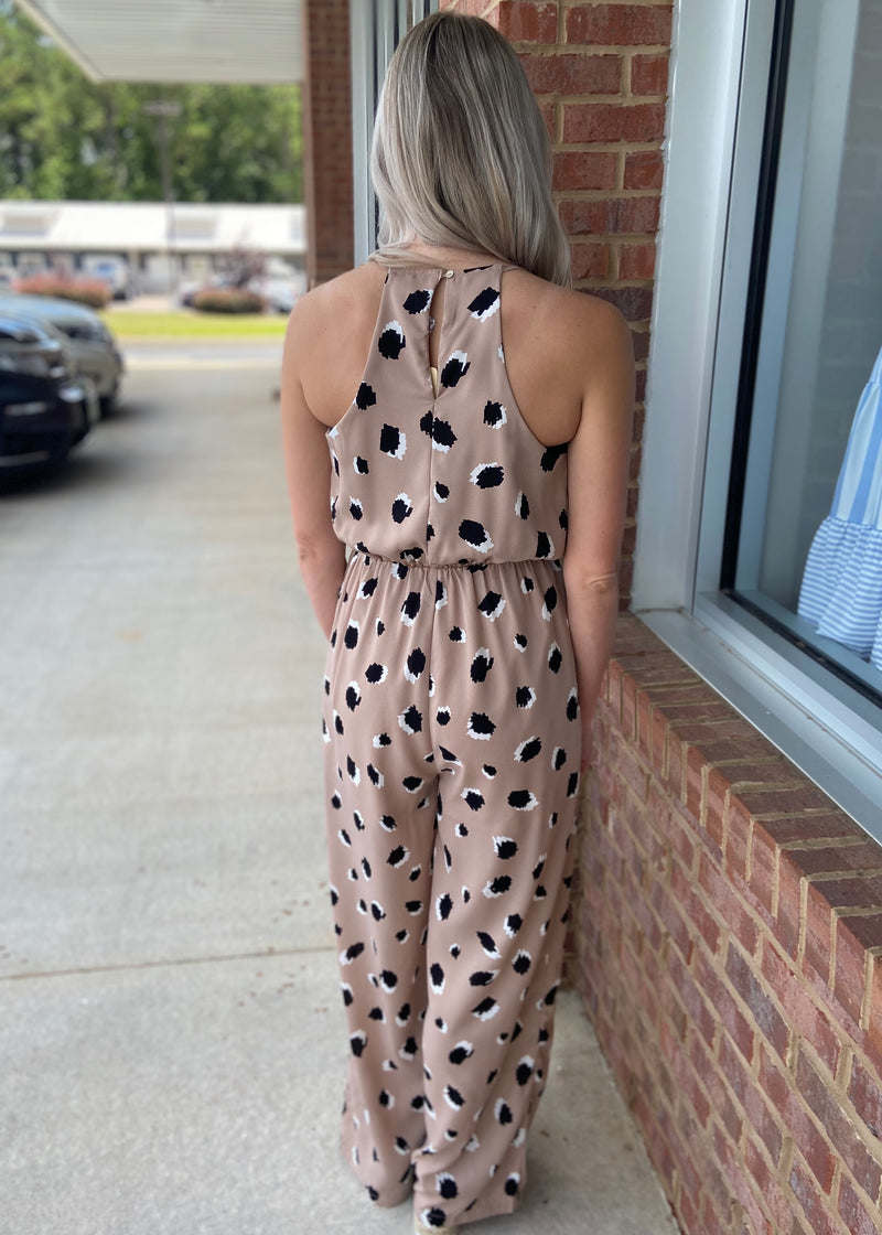 Let's Be Real Taupe Leopard Jumpsuit-Shop-Womens-Boutique-Clothing