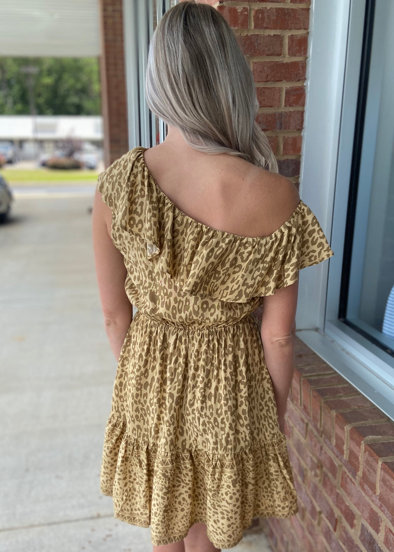 Swear By It Taupe Leopard Dress-Shop-Womens-Boutique-Clothing
