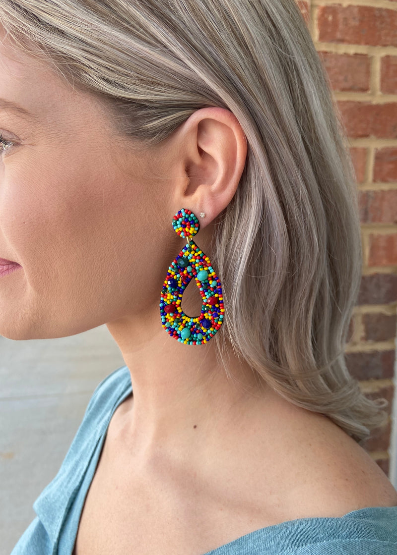 Adorable Multi Seed Bead Earrings-Shop-Womens-Boutique-Clothing