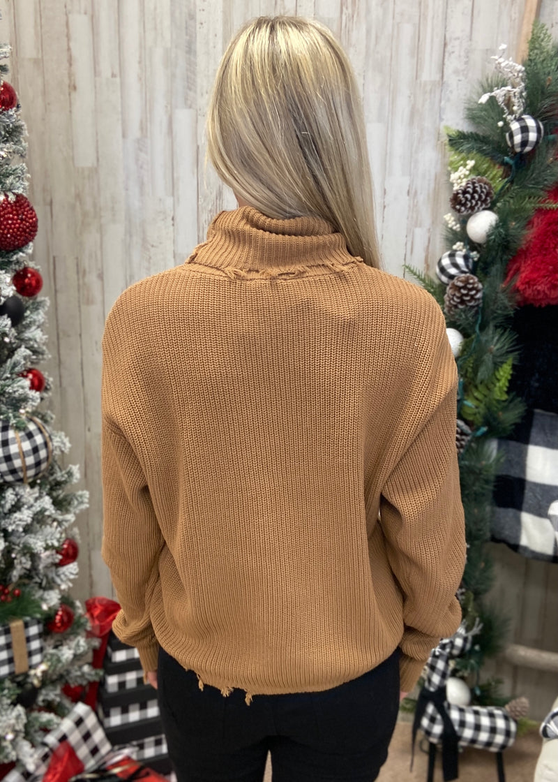 Found My Love Camel Turtleneck Sweater-Shop-Womens-Boutique-Clothing