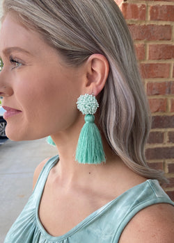 Darling Seed Bead Tassel Earrings-Shop-Womens-Boutique-Clothing