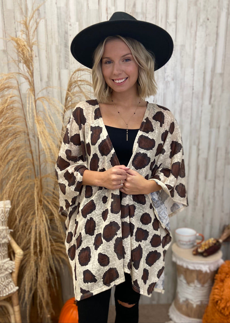 A Little Chilly Latte Animal Print Kimono-Shop-Womens-Boutique-Clothing