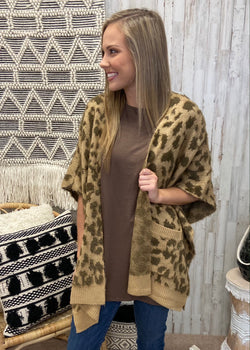 Play Your Part Taupe Leopard Cardigan-Shop-Womens-Boutique-Clothing