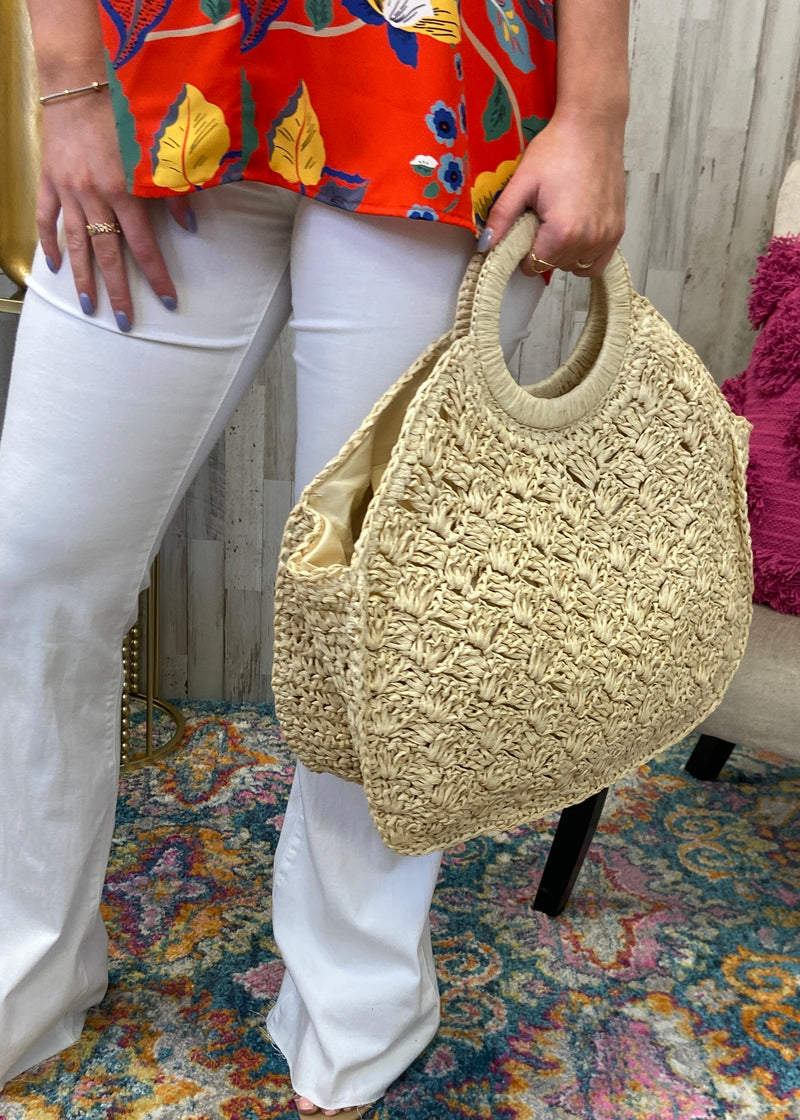 Planning For Sunshine Light Straw Handbag-One Size-Shop-Womens-Boutique-Clothing