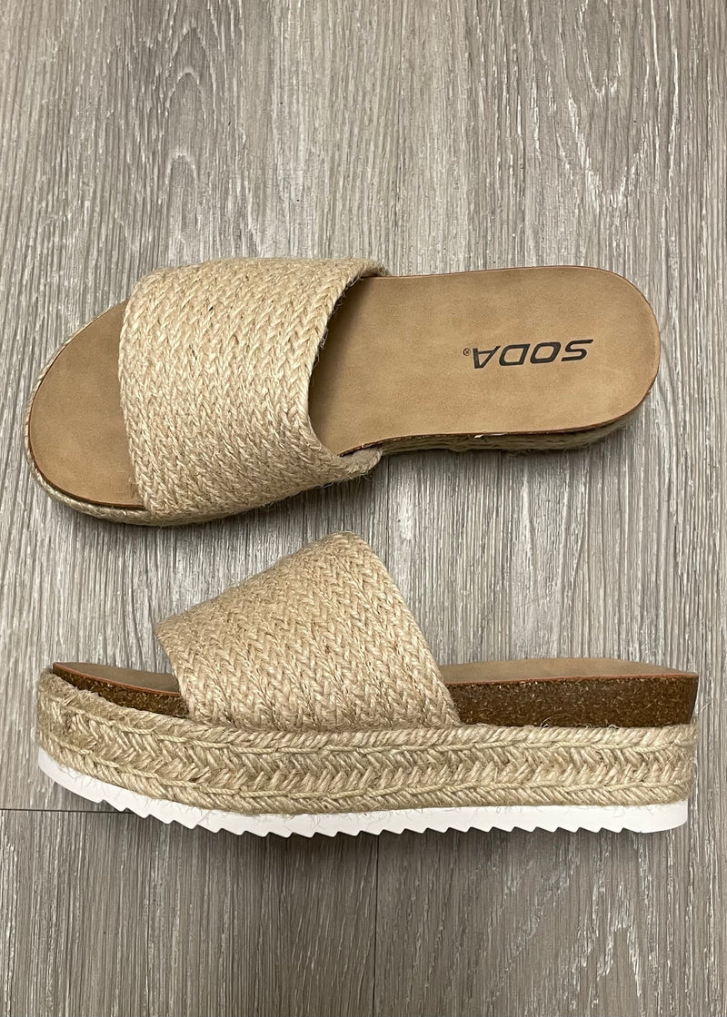 Hannah Natural Espadrille Slide On Sandals-Shop-Womens-Boutique-Clothing