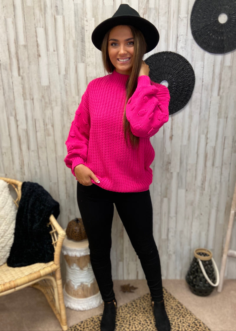 Scenic Drives Hot Pink Sweater-Shop-Womens-Boutique-Clothing