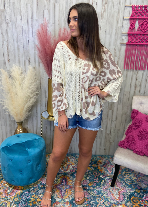 Always The Lead Cream Leopard Top-Shop-Womens-Boutique-Clothing