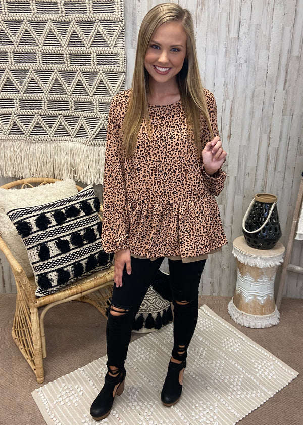 Good Connection Mauve Leopard Top-Shop-Womens-Boutique-Clothing