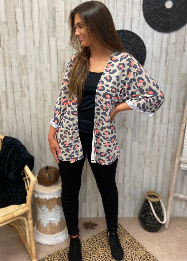 Naturally Chic Taupe Leopard Kimono-Shop-Womens-Boutique-Clothing