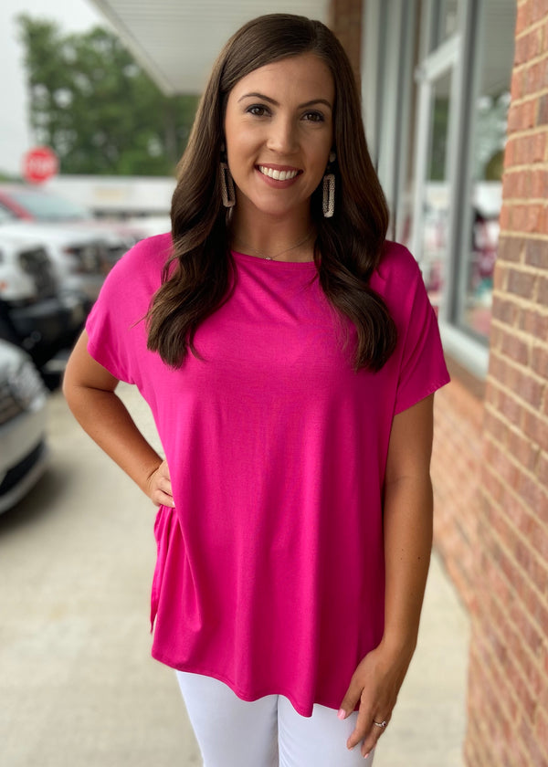 Anything But Basic Fuchsia Top-Shop-Womens-Boutique-Clothing
