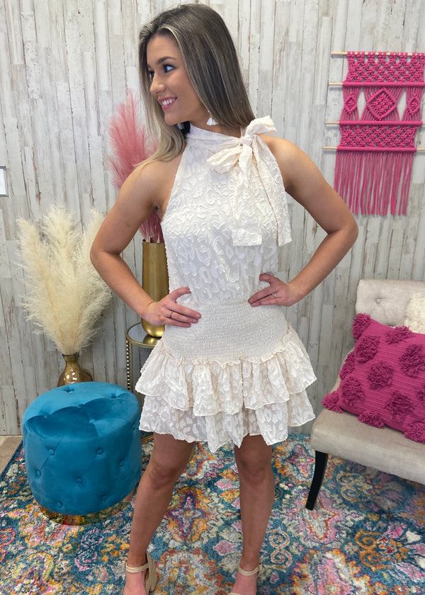 Carefully Considered Cream Smocked Dress-Shop-Womens-Boutique-Clothing