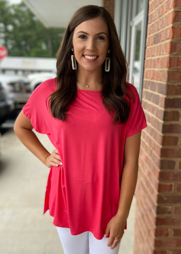Anything But Basic Coral Top-Shop-Womens-Boutique-Clothing
