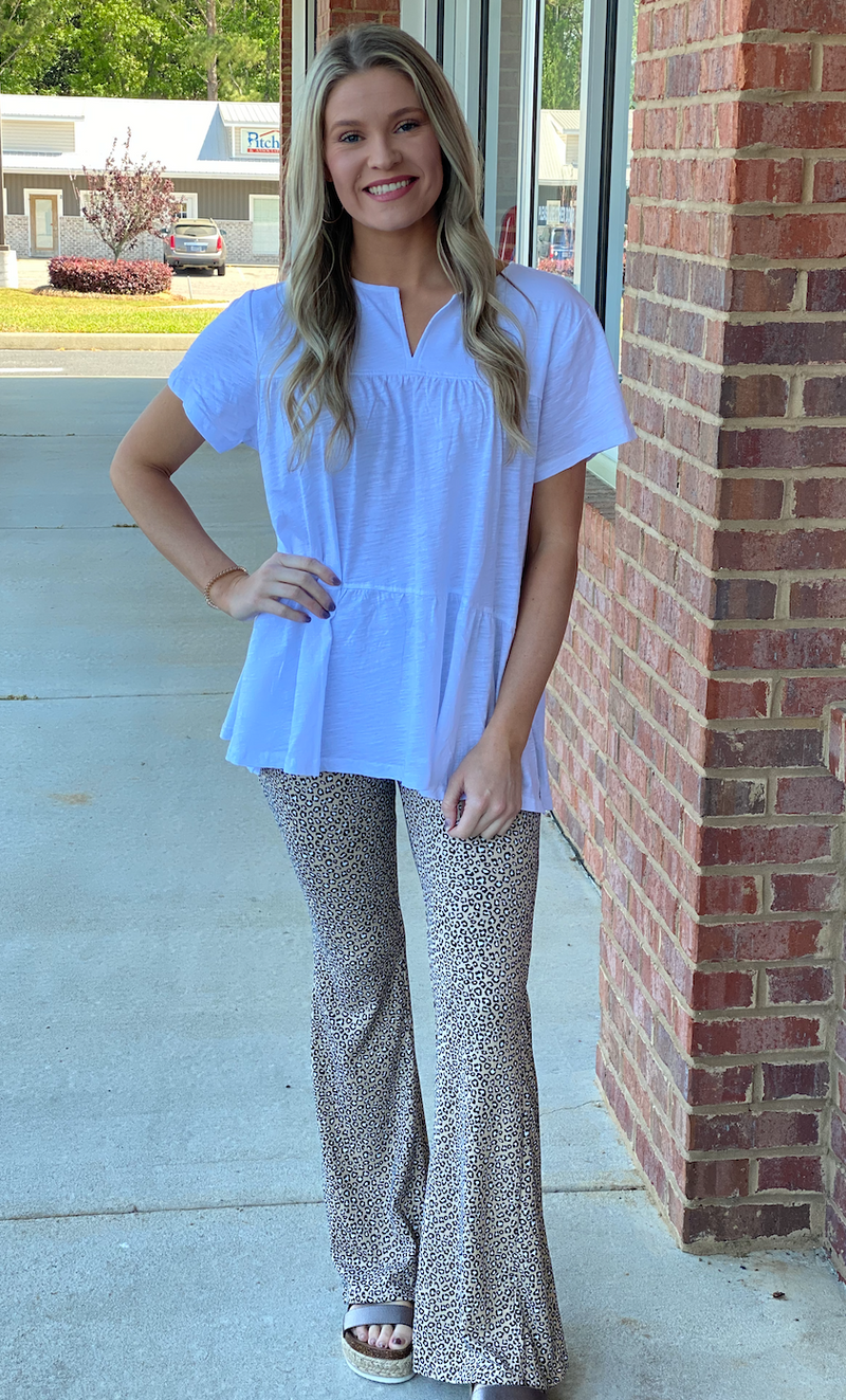 Life's A Dream Leopard Flare Pant-Shop-Womens-Boutique-Clothing