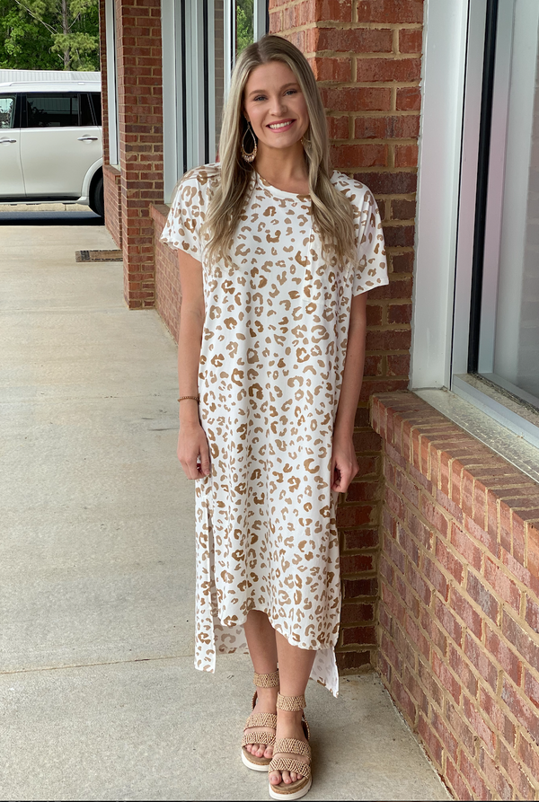 Walk The Line Ivory Spotted Maxi Dress-Shop-Womens-Boutique-Clothing