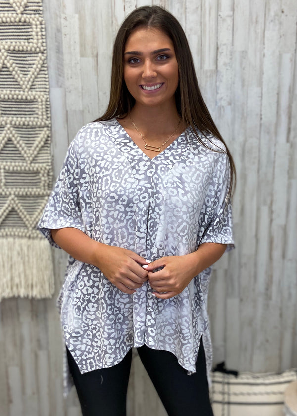 Chase Me Grey Leopard Top-One Size-Shop-Womens-Boutique-Clothing