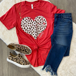 Leopard Heart Tee-Shop-Womens-Boutique-Clothing