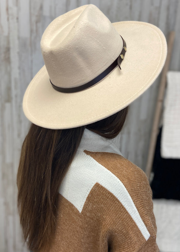 À La Mode Beige Panama Hat-Regular-Shop-Womens-Boutique-Clothing