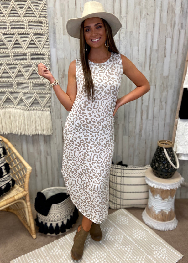 Whimsical Dream White Leopard Midi Dress-Shop-Womens-Boutique-Clothing
