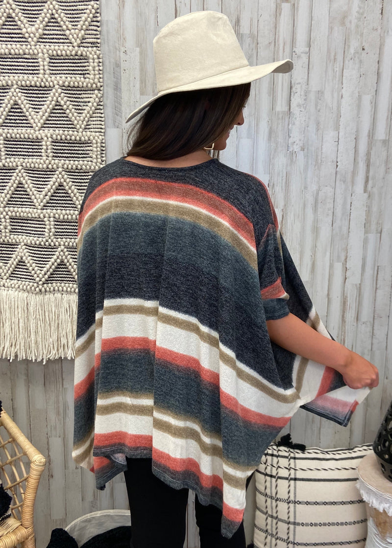 Fireside Feelings Rust Poncho Top-Shop-Womens-Boutique-Clothing