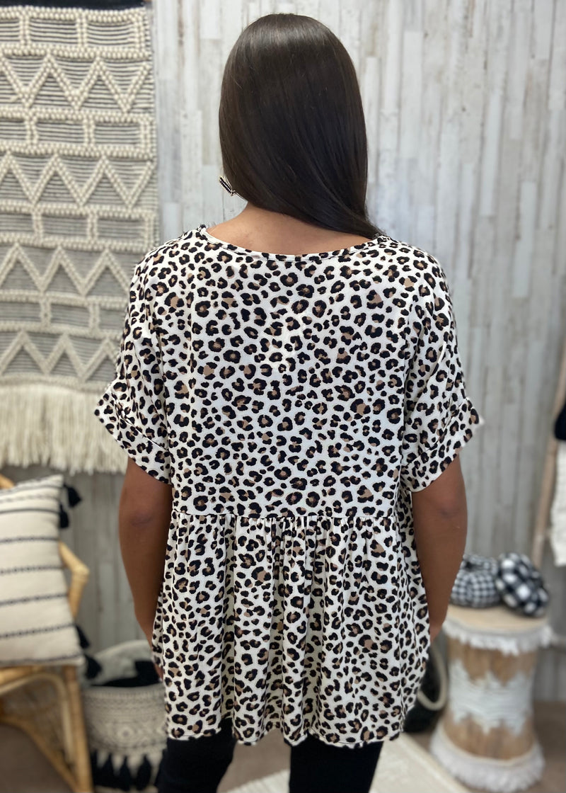 Warm Smiles Leopard Babydoll Top-Shop-Womens-Boutique-Clothing
